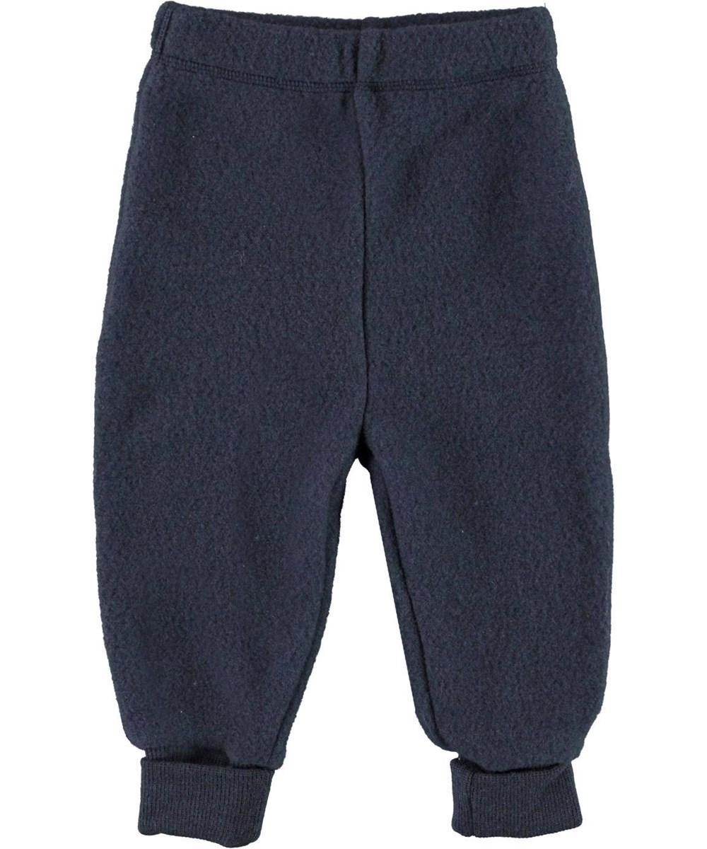 Ulmer - Dark Navy - Baby wool trousers in blue