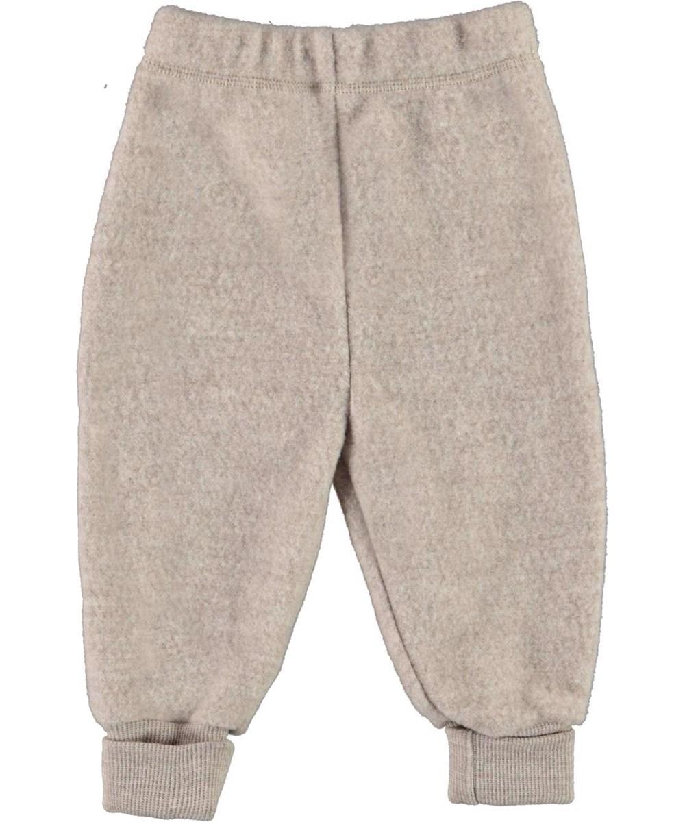 Ulmer - Moon Sand - Baby wool trousers in beige