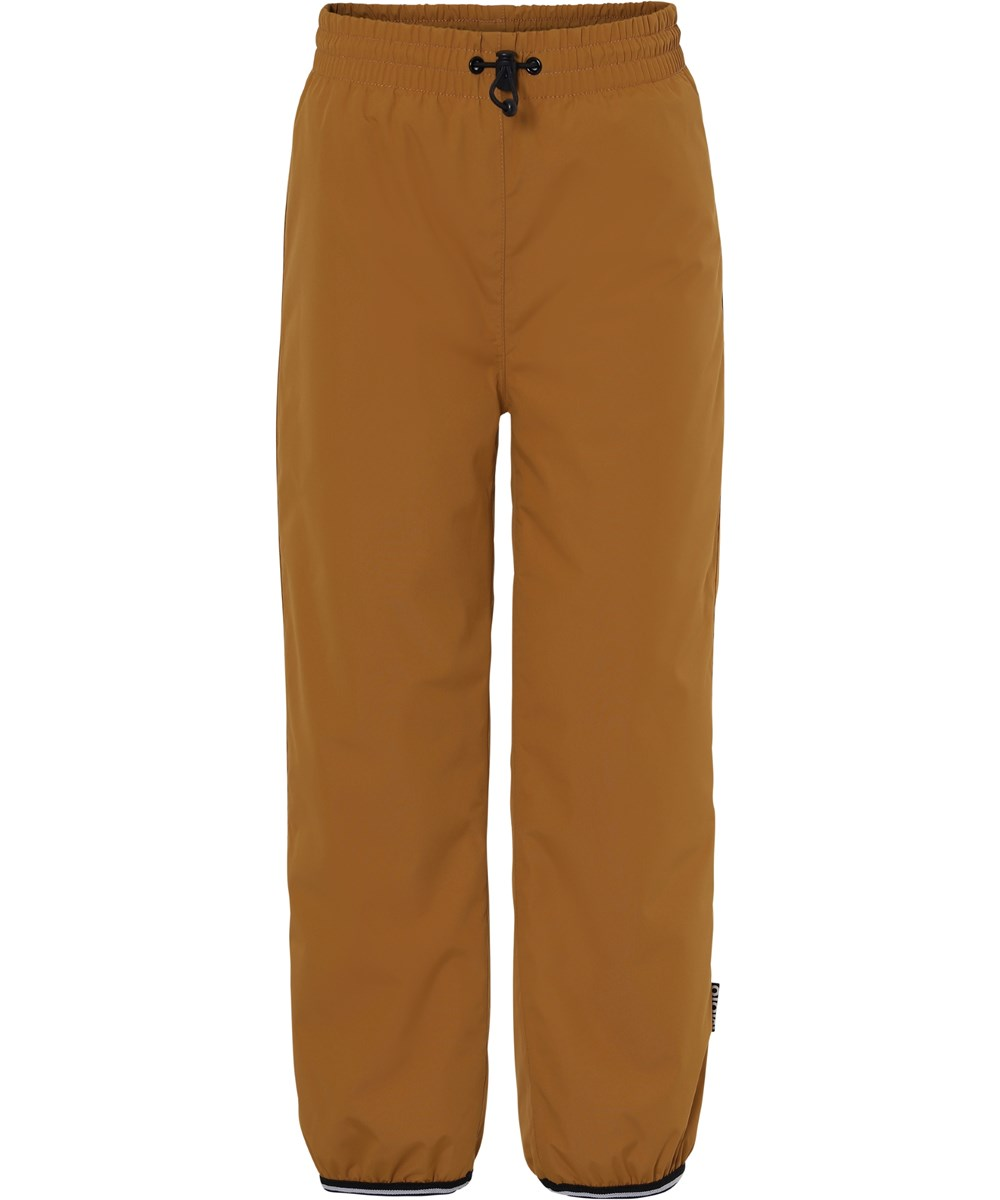 Wild - Autumn Leaf - Lined rain trousers in a mustard colour