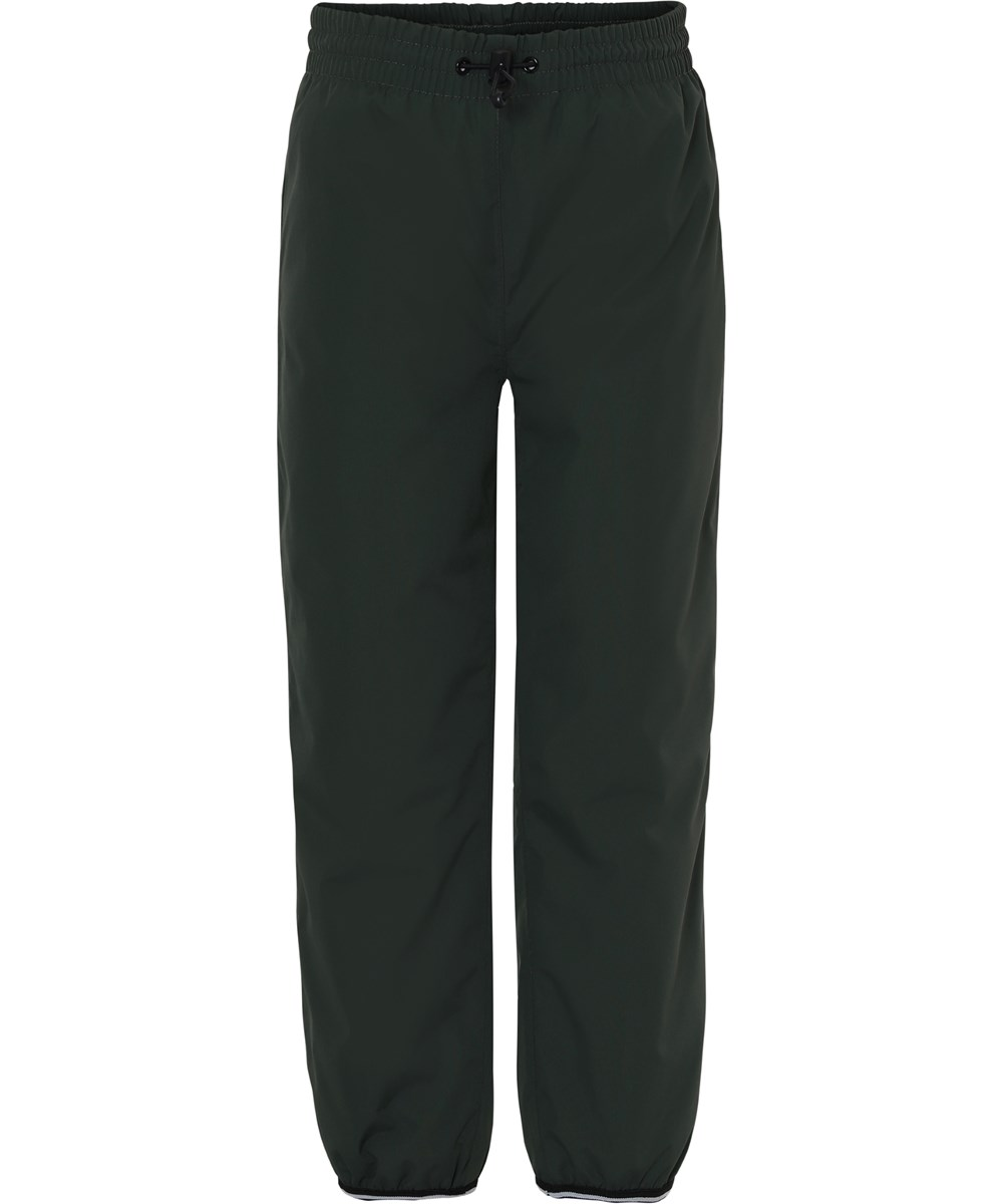 Wild - Deep Forest - Lined rain trousers in dark green