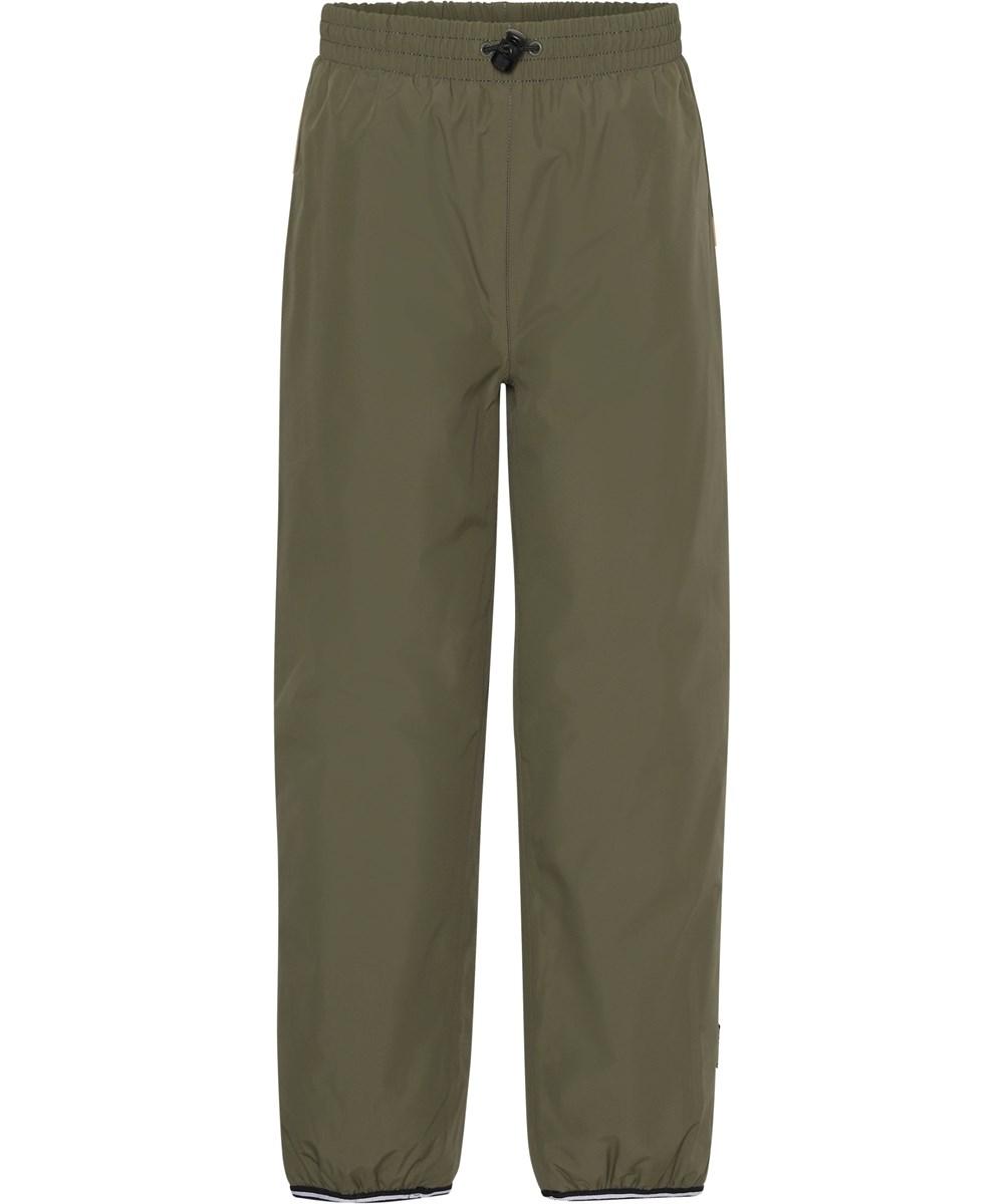 Wild - Vegetation - Green lined, waterproof rain trousers