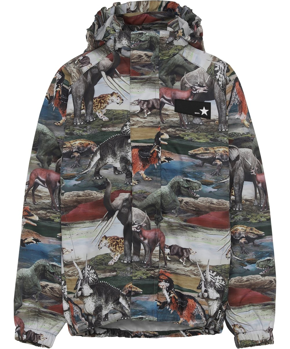 Waiton - Ancient Animals - Rain jacket with a dinosaur print