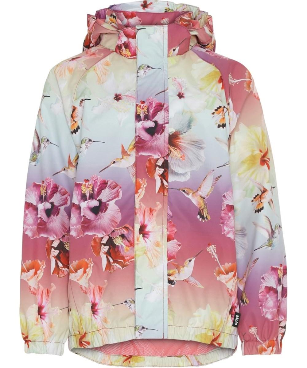 Waiton - Hibiscus Rainbow - Rain jacket with flower print