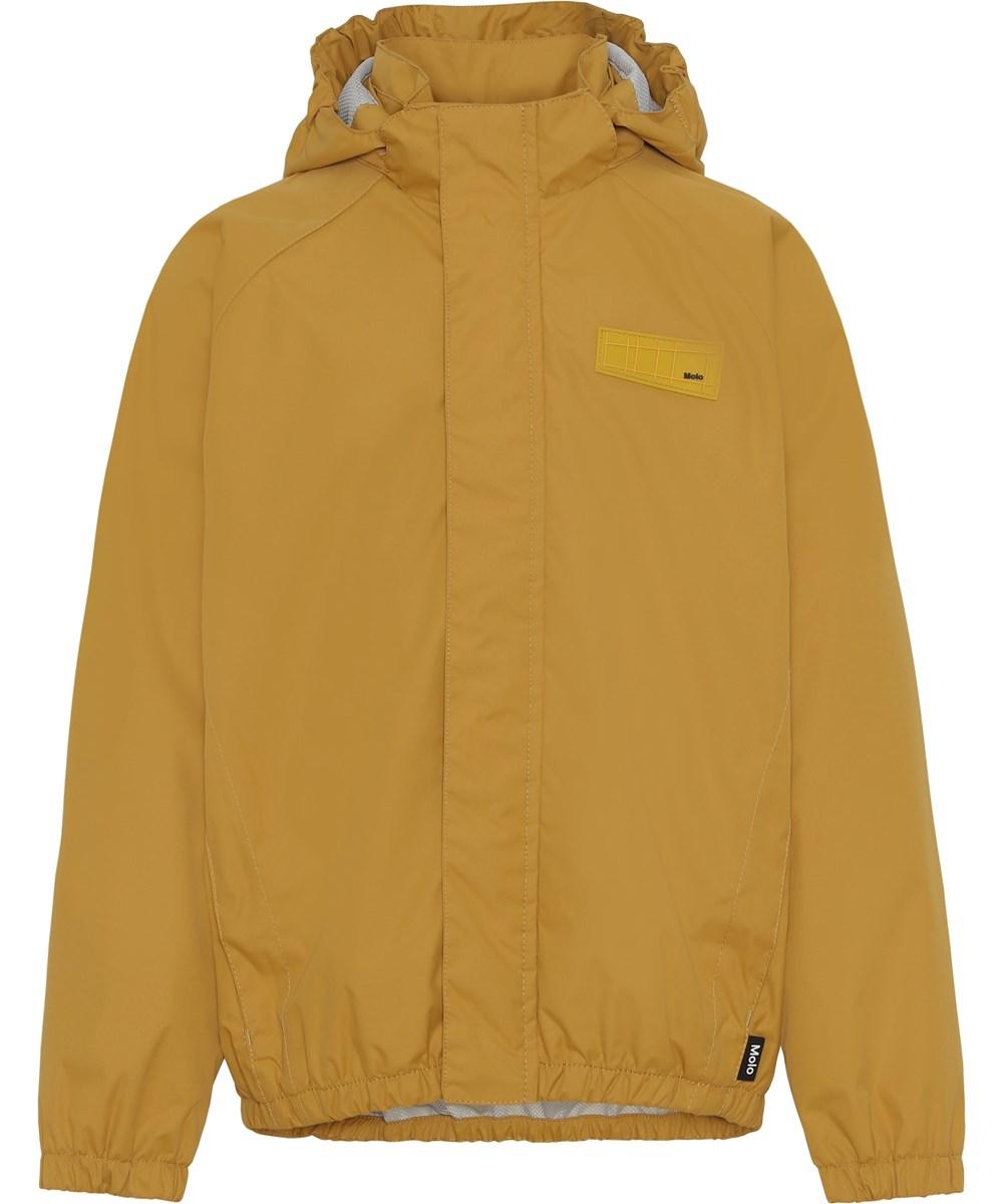 Waiton - Honey - Golden rain jacket with star reflector