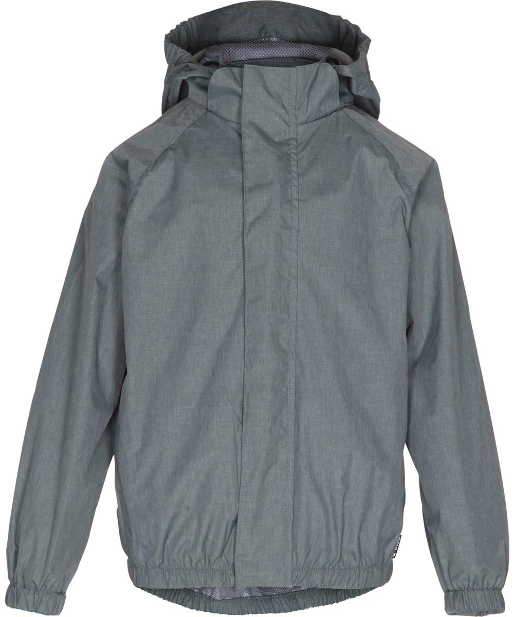 Waiton - Metal Green Melange - metallic green functional rain jacket