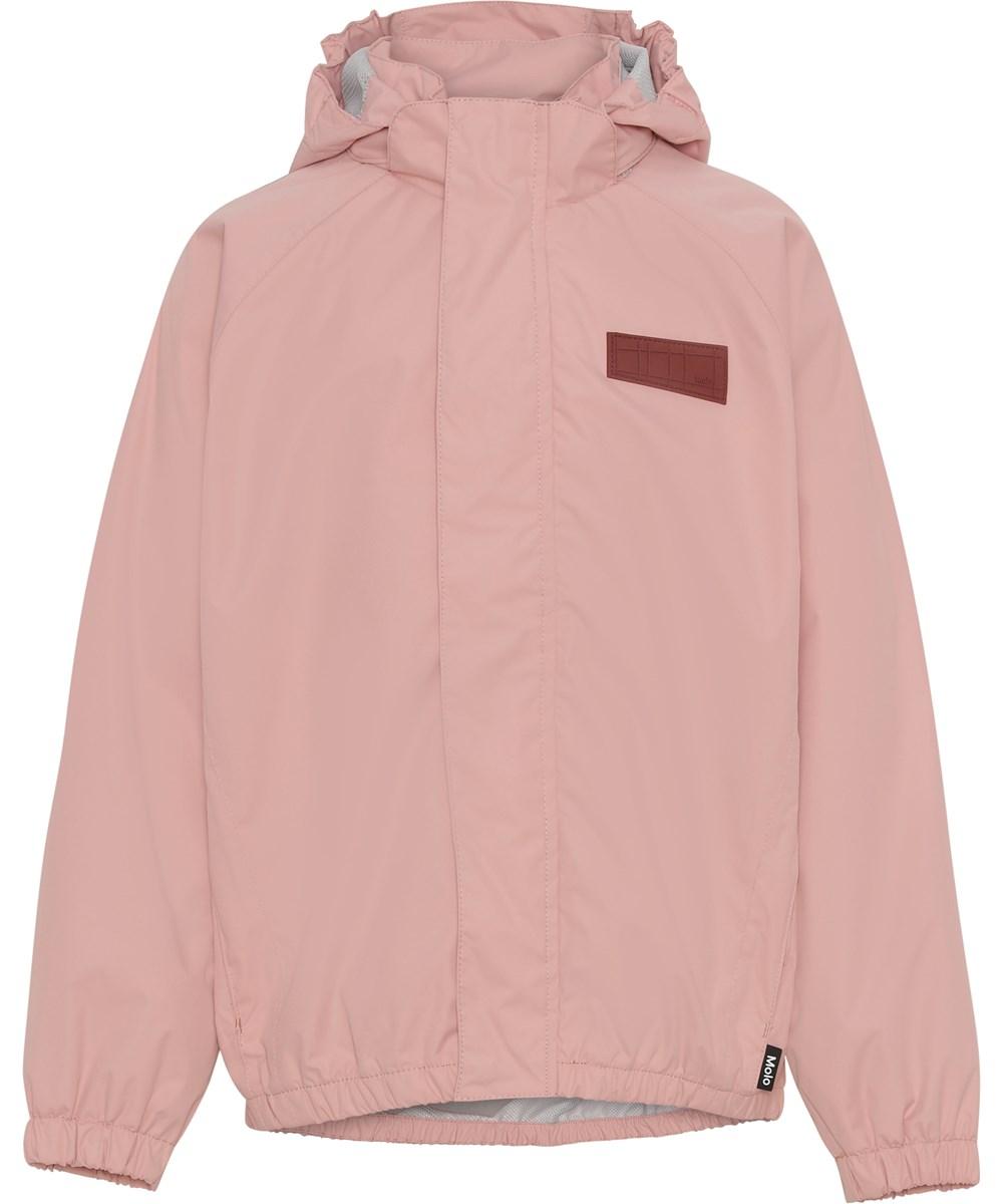 Waiton - Rosequartz - Rose rain jacket with star reflector