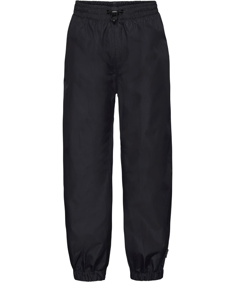 Waits - Black - Black rain trousers with star reflector