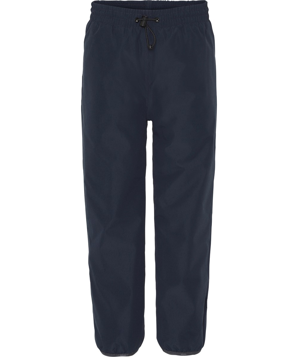 Wild - Carbon - Dark blue, lined rain trousers