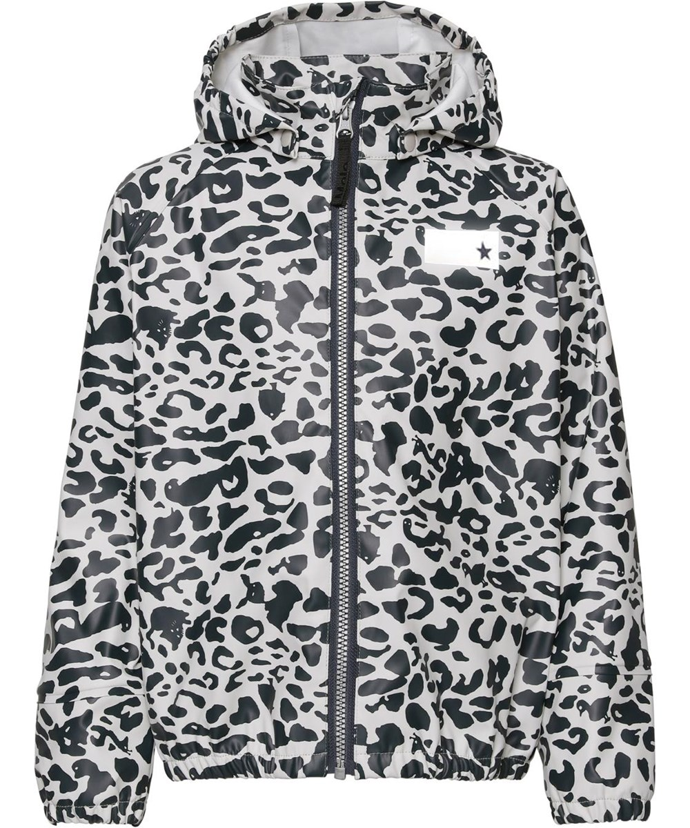 Zan - Leo Blue - Rain jacket with blue leopard print