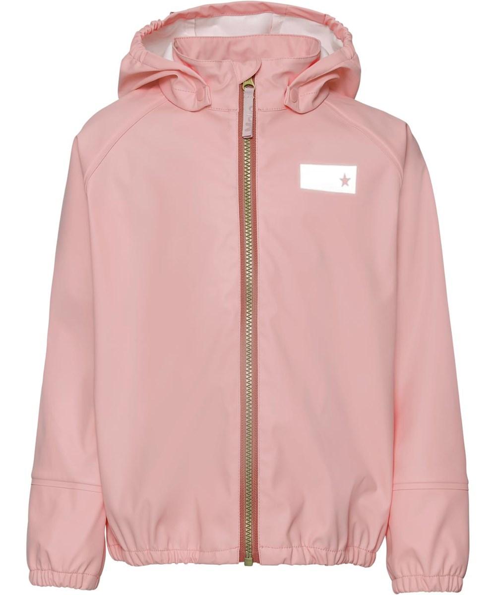 Zan - Rosequartz - Rose rain jacket with star reflector