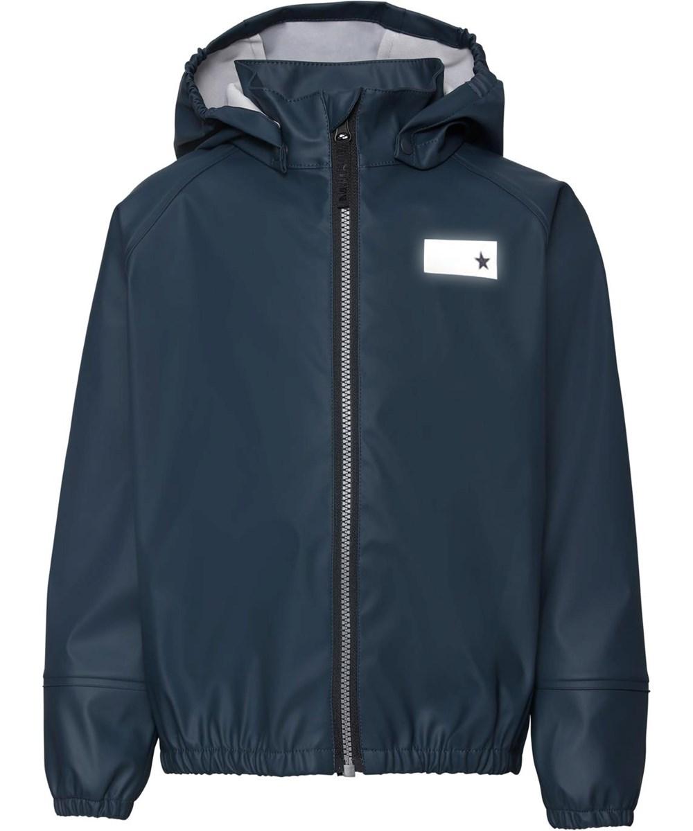 Zan - Summer Night - Dark blue rain jacket with star reflector