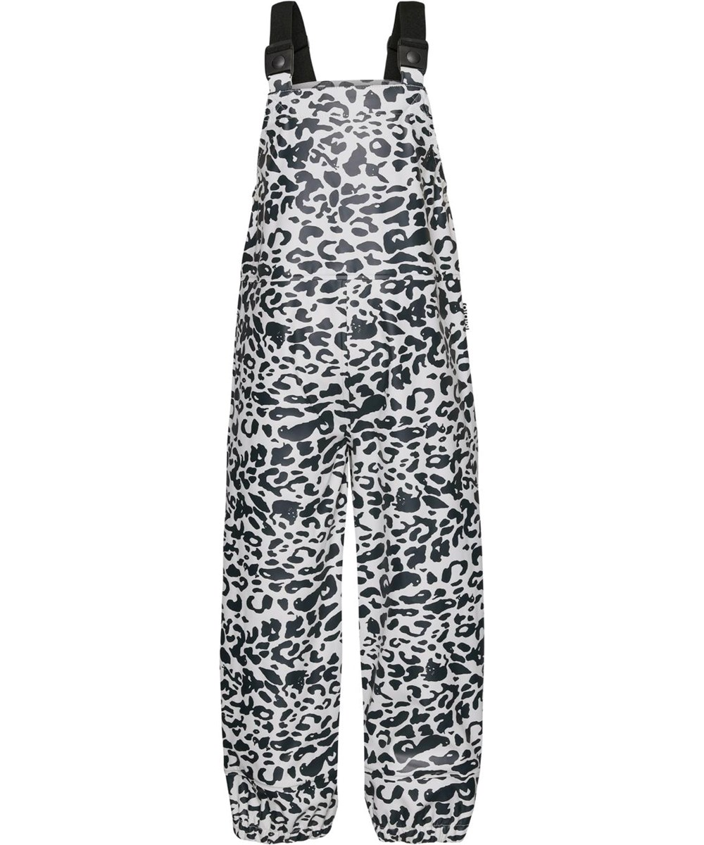 Zareb - Leo Blue - Leopard recycled rain dungarees