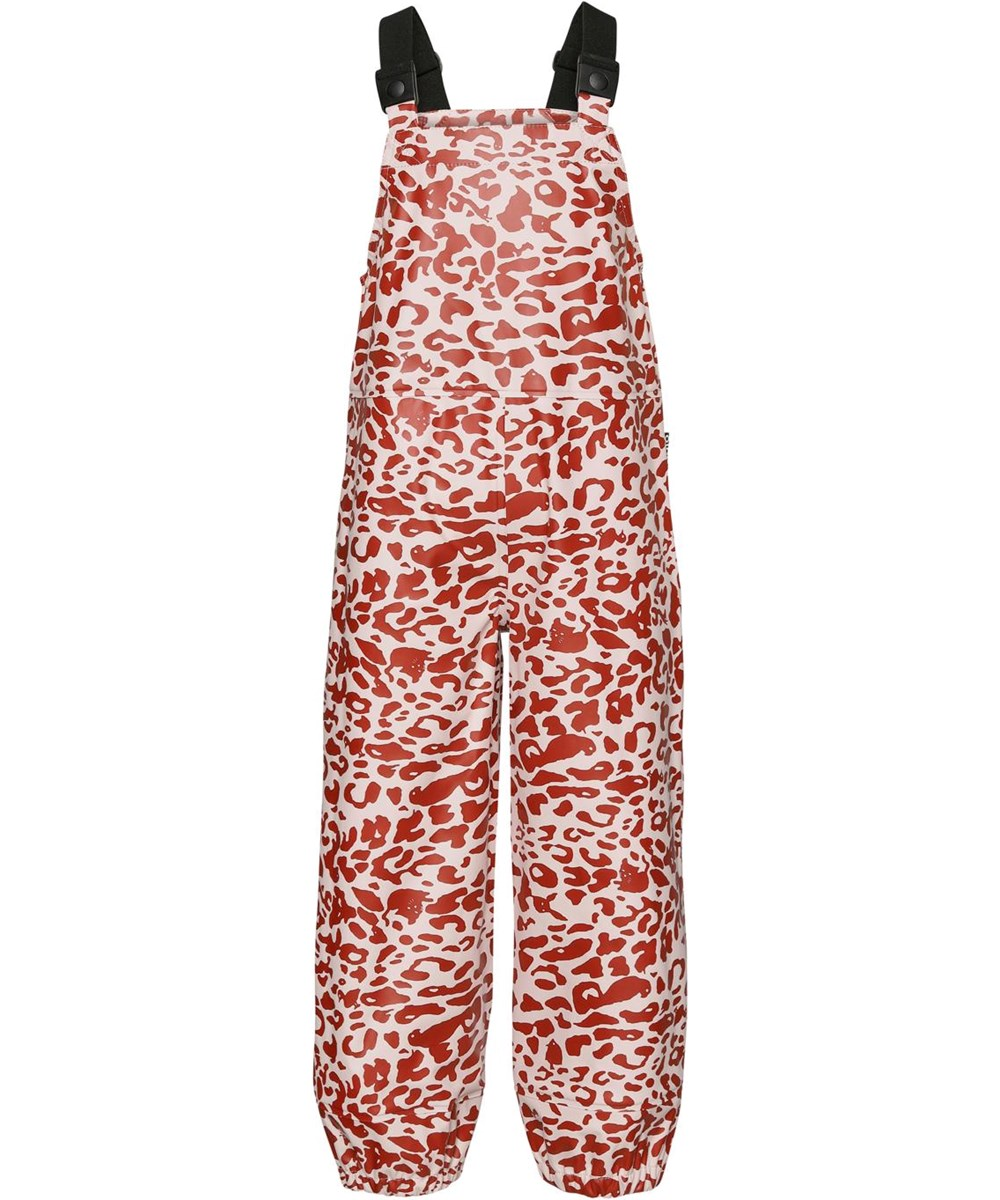 Zareb - Leo Red - Leopard recycled rain dungarees