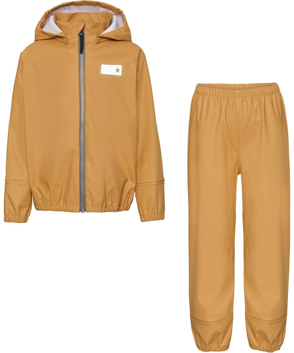 Zet - Honey - Golden recycled rainwear set