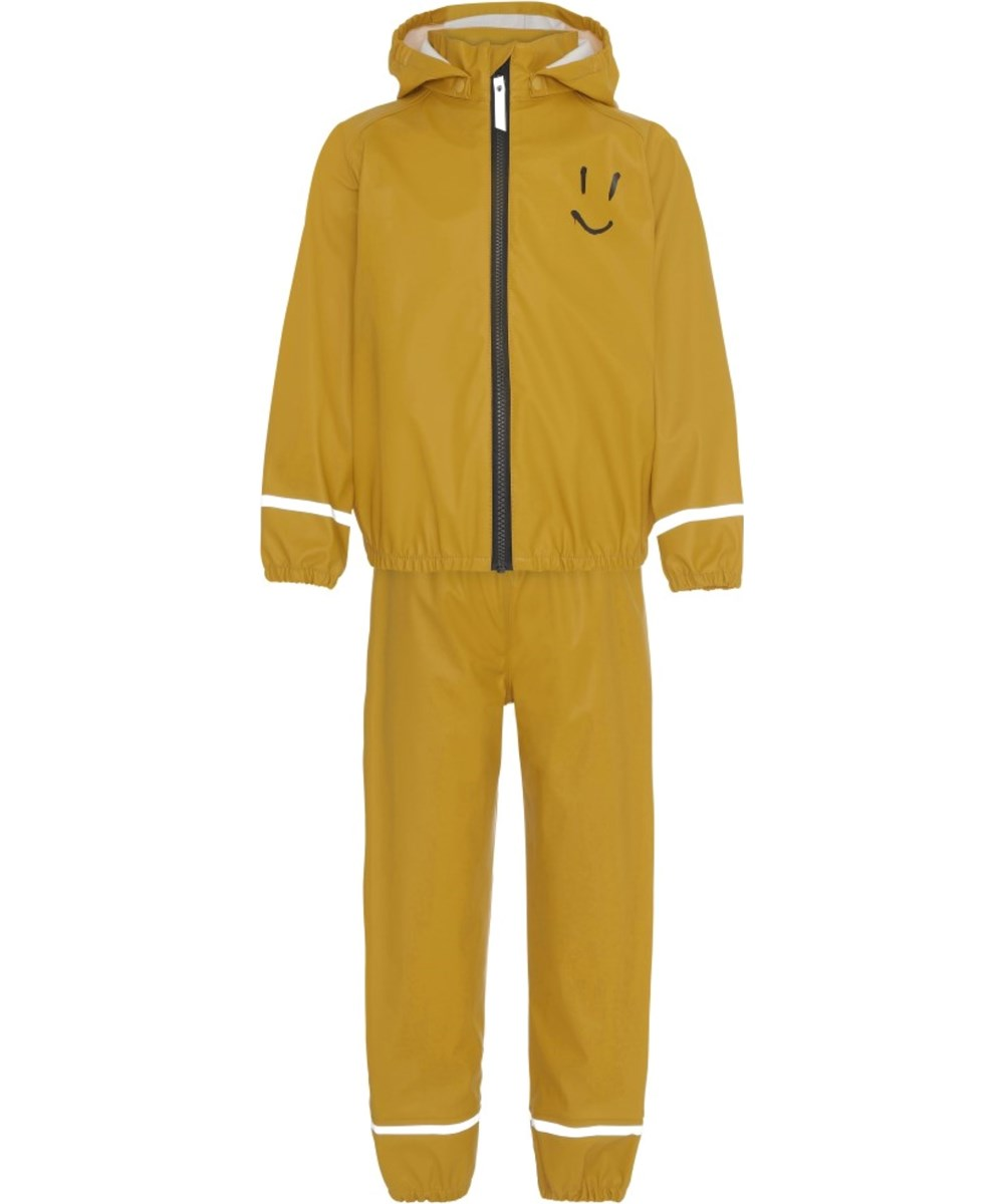 Zet - Nugget Gold - Yellow rain set with smiley