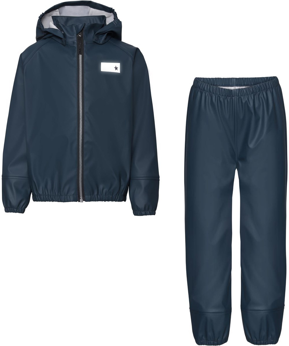Zet - Summer Night - Blue recycled rainwear set
