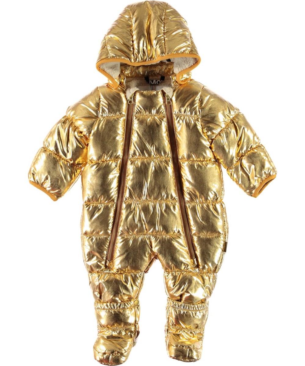 Hebe - Golden - Gold baby snowsuit