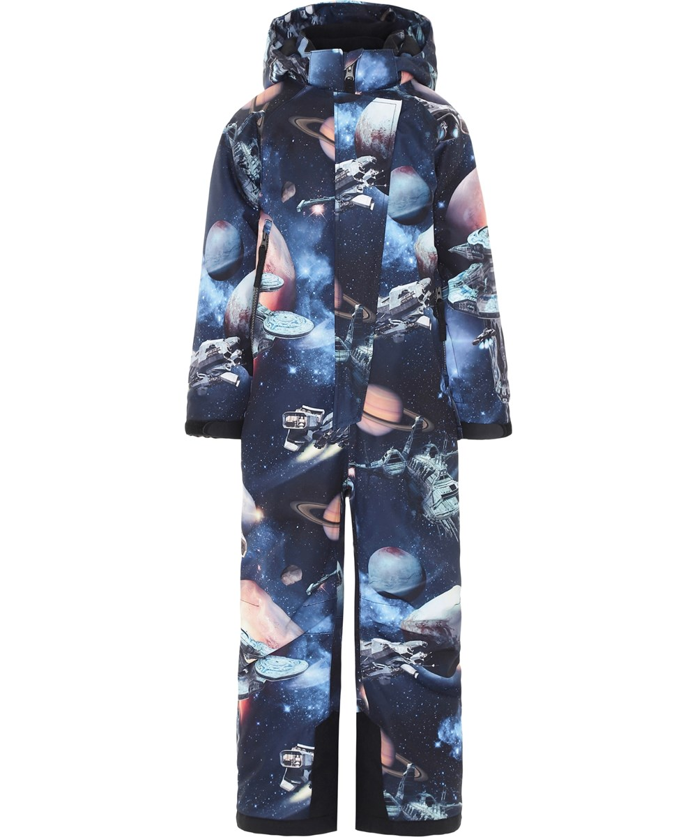 Hux - Another Galaxy - Blue ski snowsuit with planets.