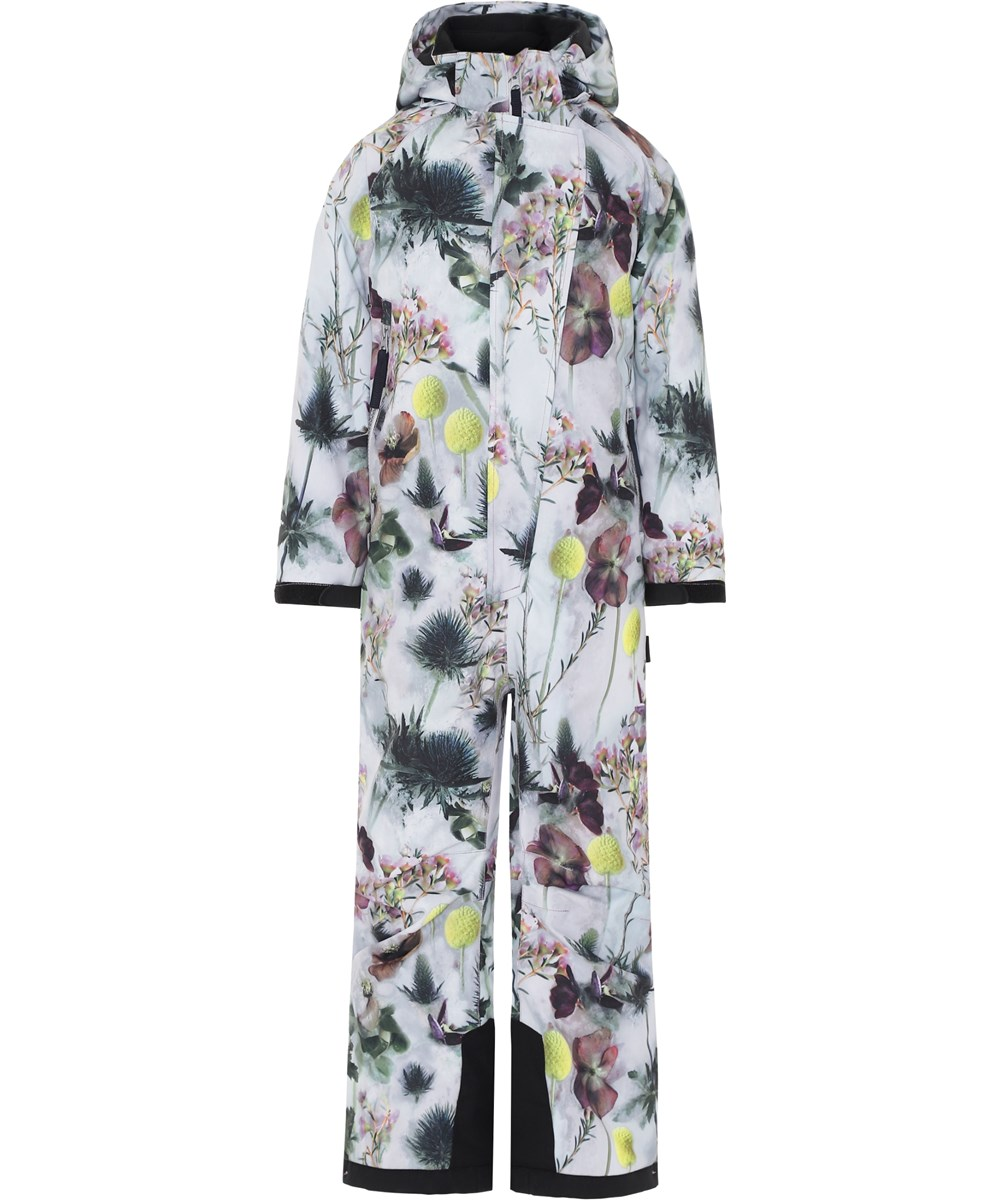 Hux - Frozen Flowers - Ski snowsuit with flower print