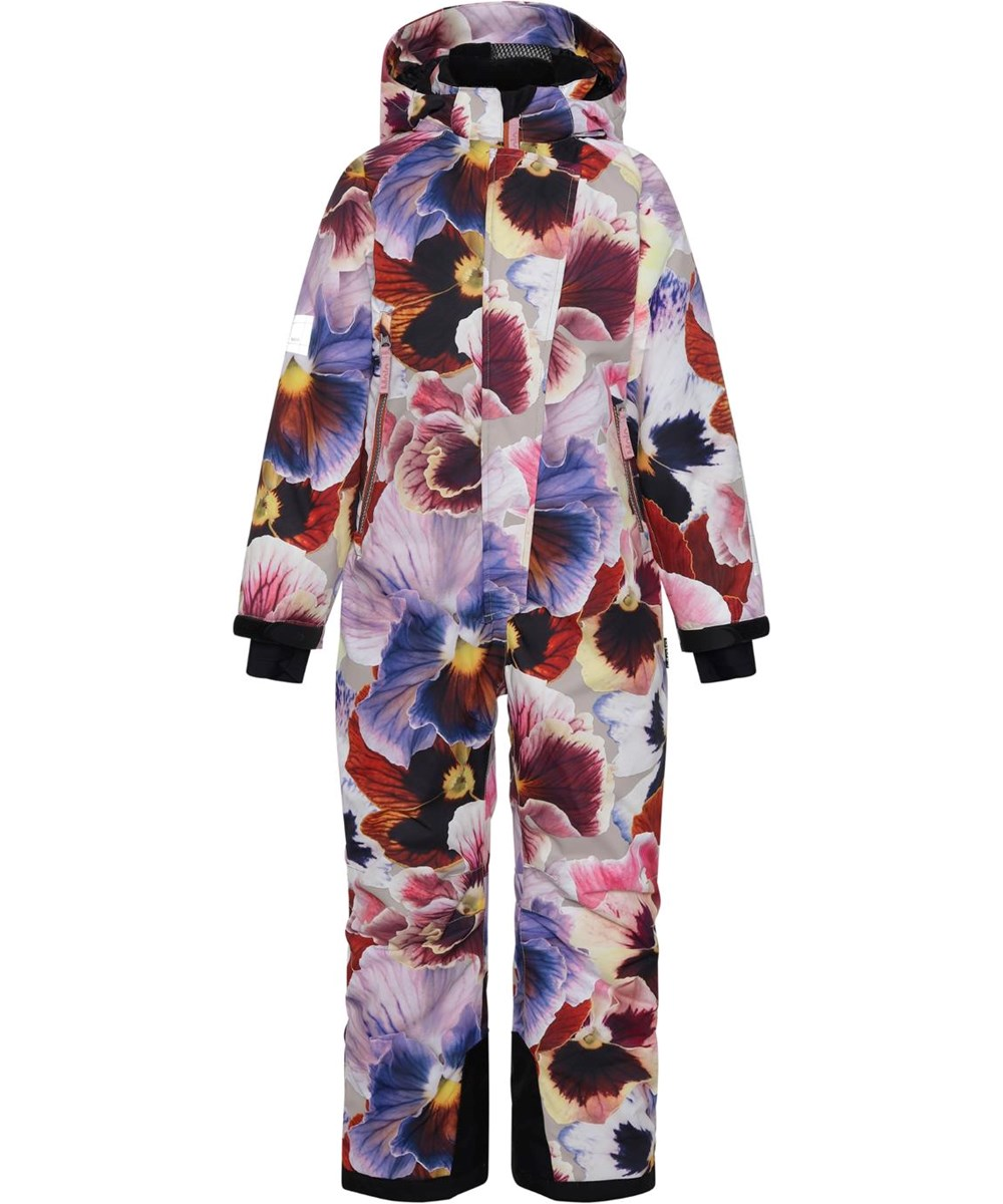 Hux - Giant Floral - Recycled snowsuit with floral print