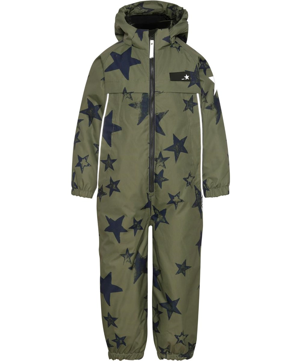 Pingo - Carbon Star - Recycled unisex snowsuit with star print
