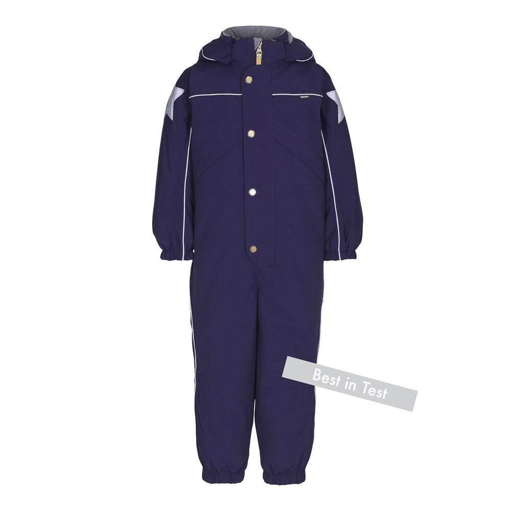 Polaris - Evening Blue - Functional, dark blue snowsuit with fleece lining