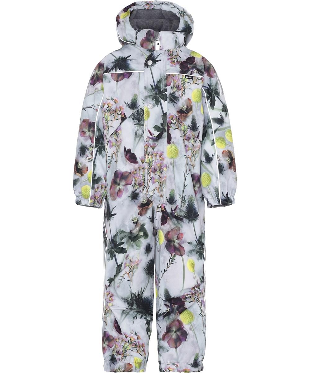 Polaris - Frozen Flowers - Light grey snowsuit with flowers.