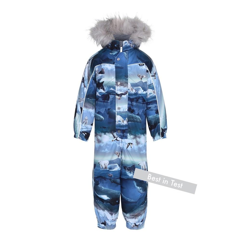 Polaris Fur - Arctic Landscape - Functional snowsuit with fleece lining with digital arctic landscape print