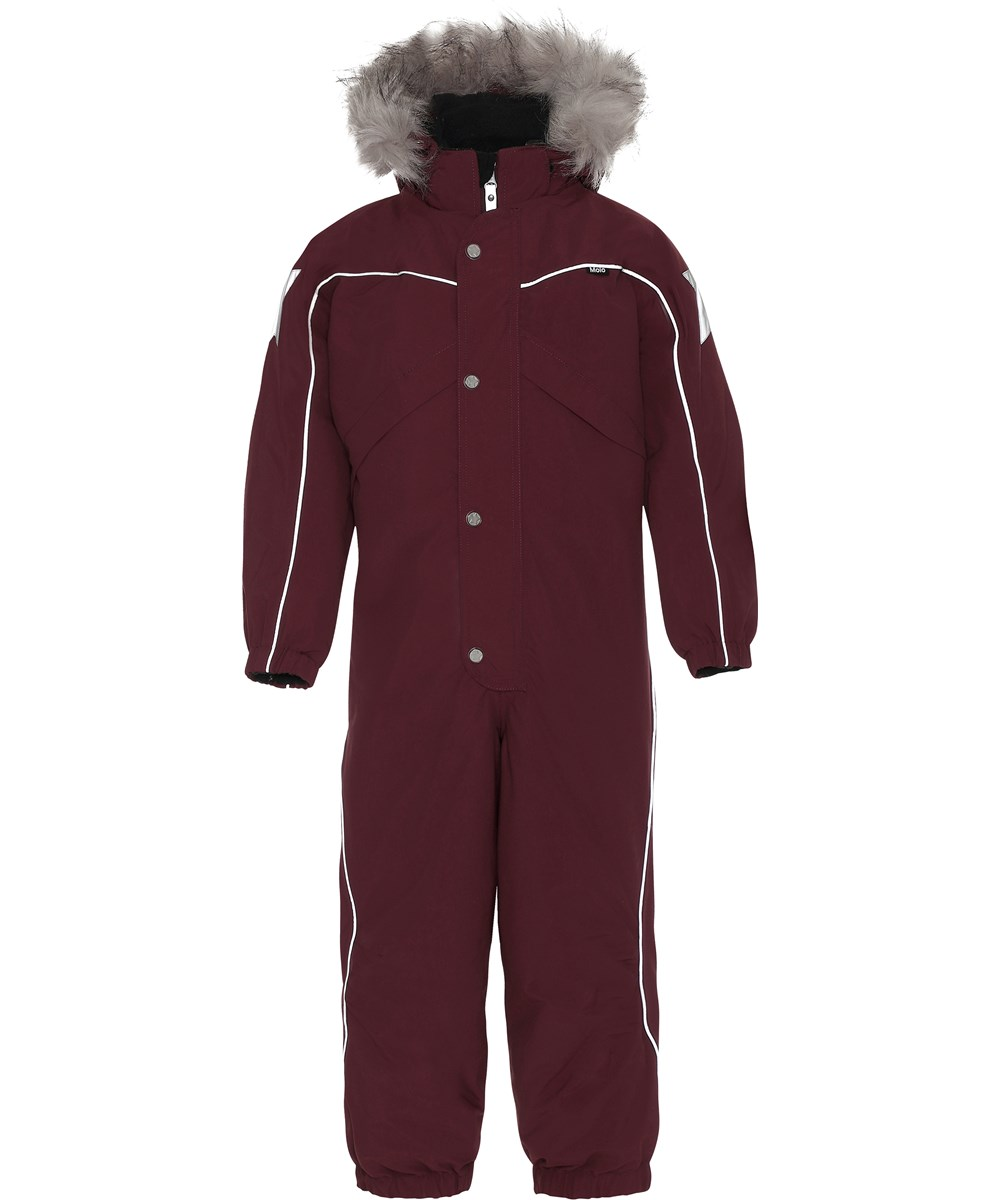 Polaris Fur - Carbernet - Snowsuit with faux fur.