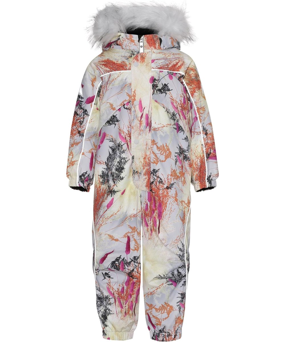 Polaris Fur - Eternal Flowers - Recycled light blue snowsuit with print of branches