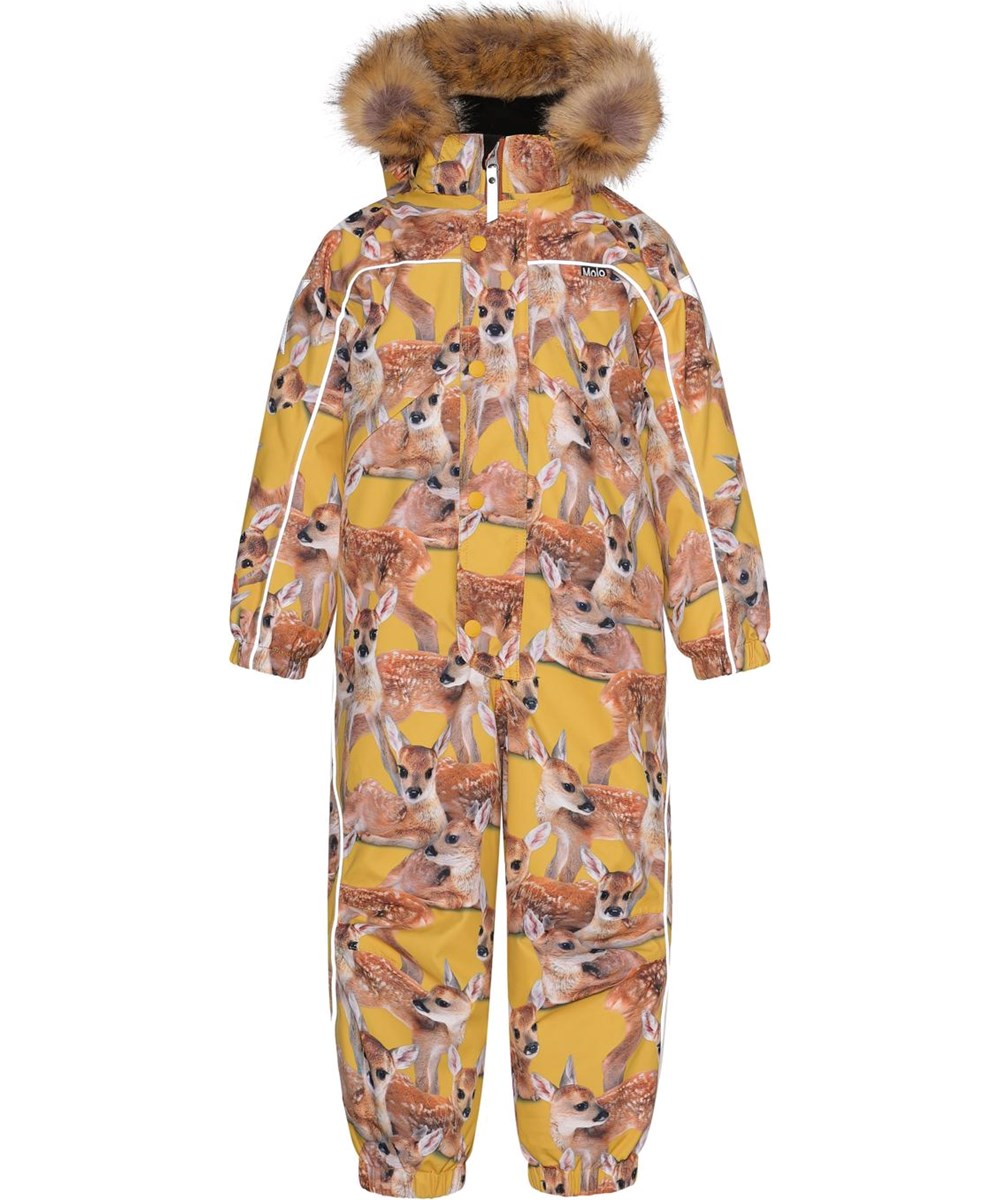 Polaris Fur - Fawns - Recycled yellow snowsuit with print of deer