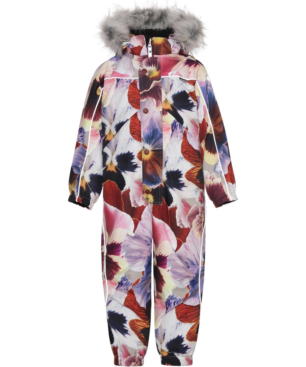 Polaris Fur - Giant Floral - Recycled snowsuit with floral print