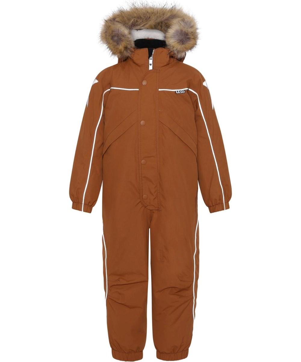 Polaris Fur - Iron - Recycled, brown Best-in-Test snowsuit