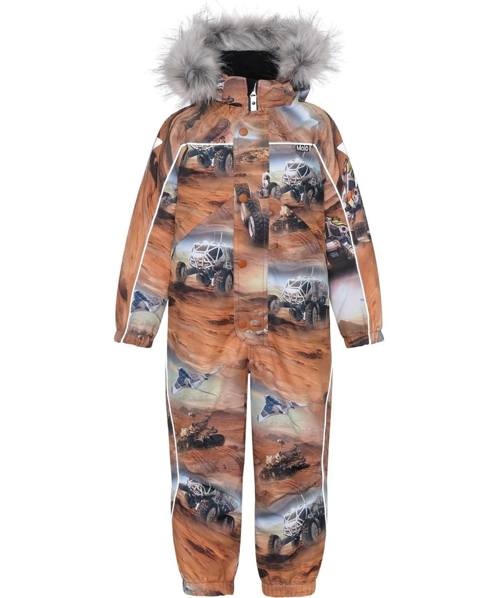 Polaris Fur - Mars - Recycled brown snowsuit with print of Mars
