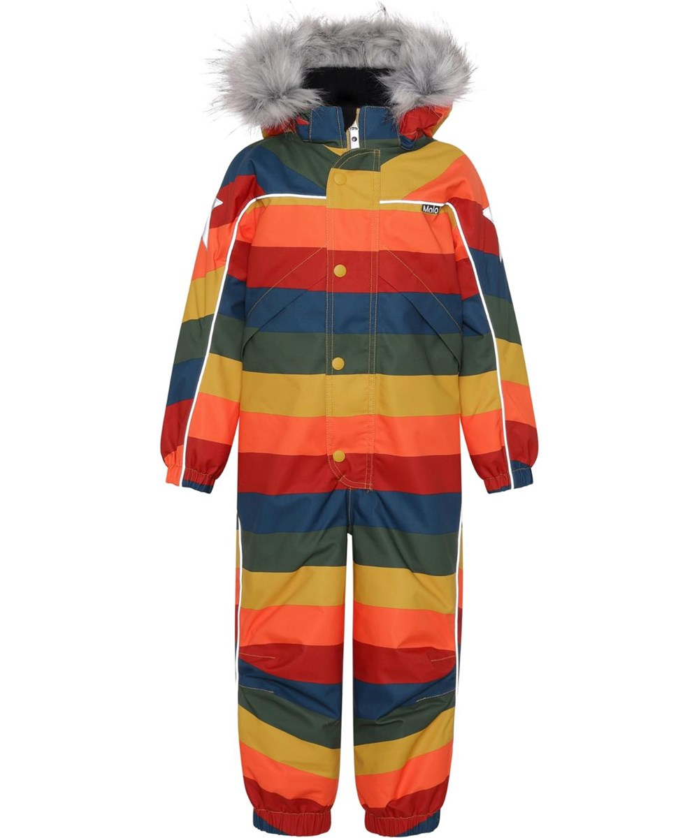 Polaris Fur - Rainbow - Recycled snowsuit with rainbow print