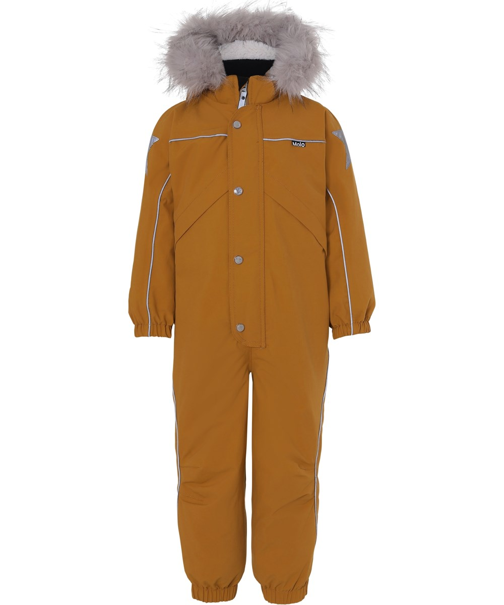 Polaris Fur Recycle - Autumn Leaf - Recycled mustard coloured snowsuit fur