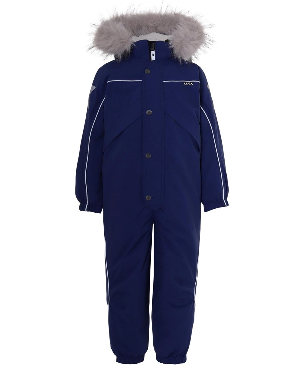 Polaris Fur Recycle - Ink Blue - Recycled blue snowsuit fur collar
