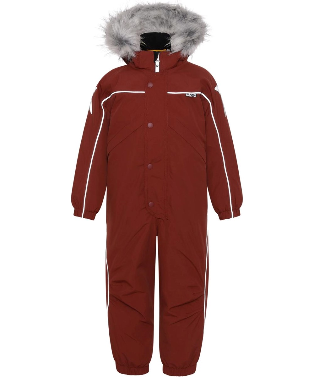 Polaris Fur - Rosewood - Recycled, red Best-in-Test snowsuit