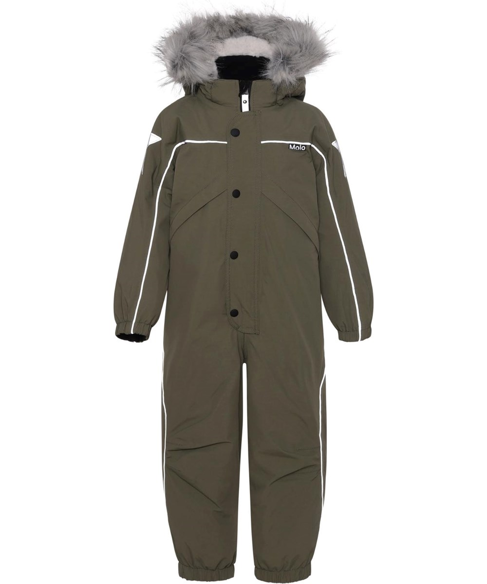 Polaris Fur - Vegetation - Recycled, green Best-in-Test snowsuit