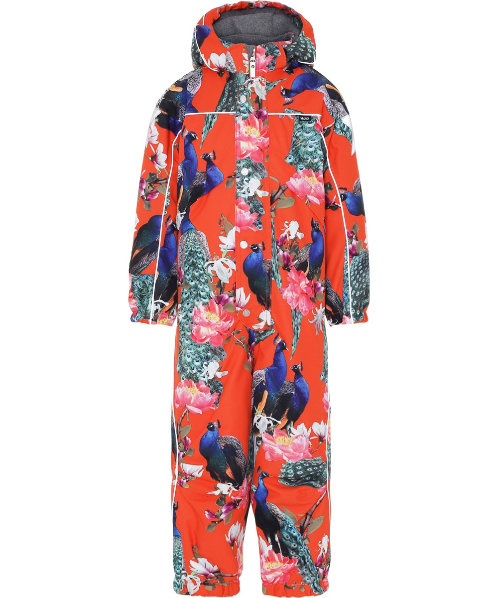 Polaris - Peacock - Red snowsuit with peacocks.
