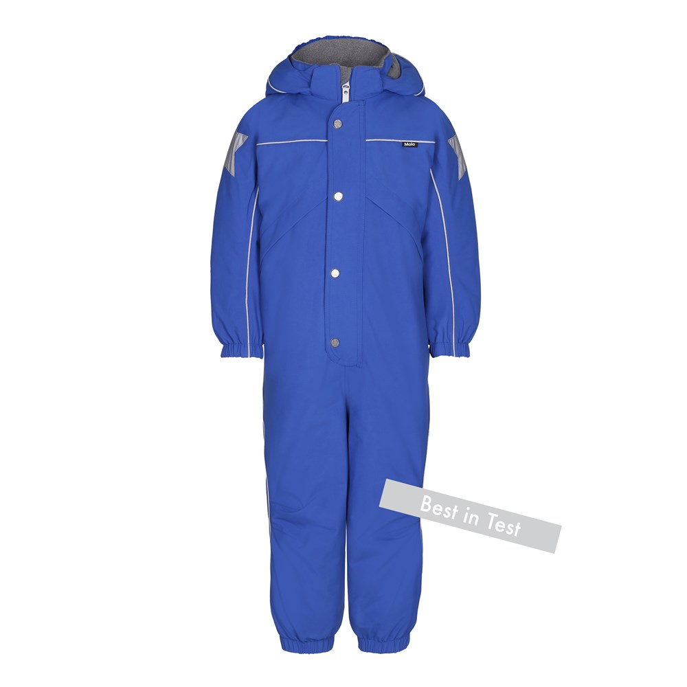 Polaris - Real Blue - Functional blue snowsuit with fleece lining