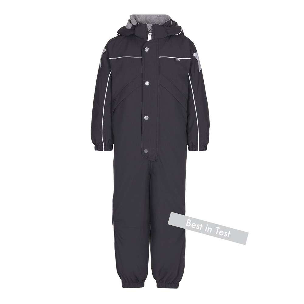 Polaris - Very Black - Functional black snowsuit with fleece lining