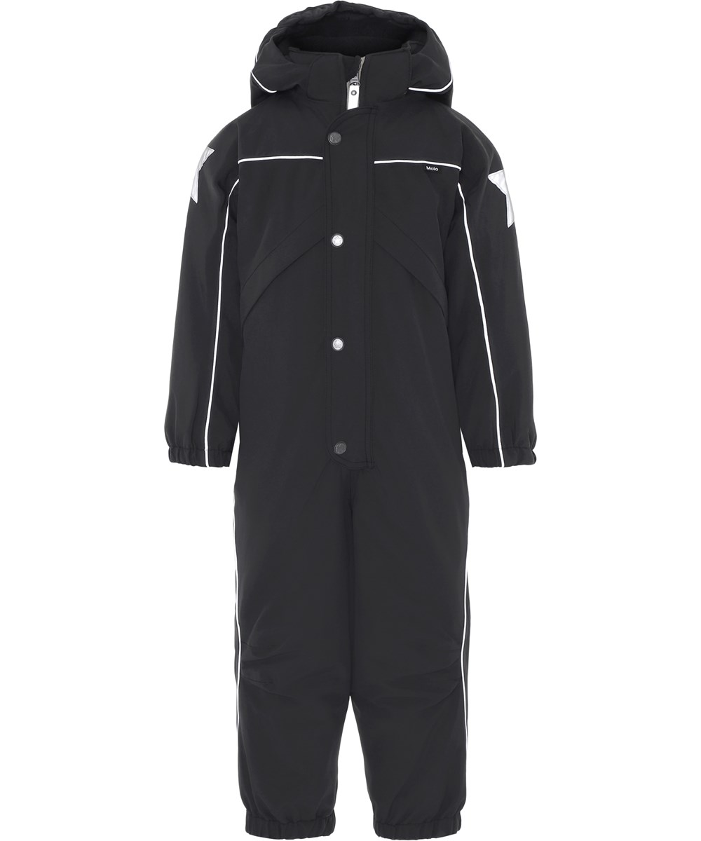 Polaris - Very Black - Black snowsuit with star reflectors.