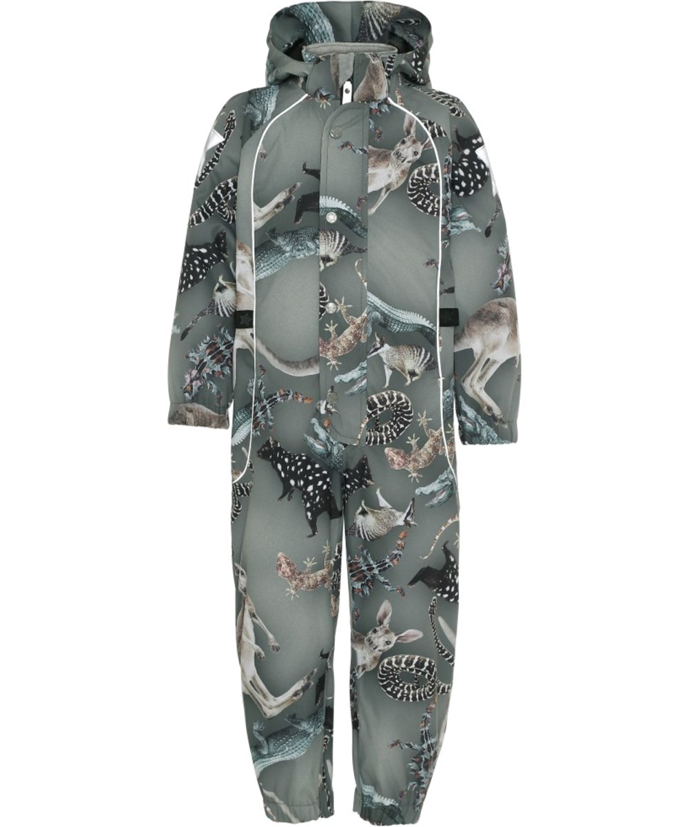 Polly - Camo Bush Animals - Waterproof summer suit with animal print