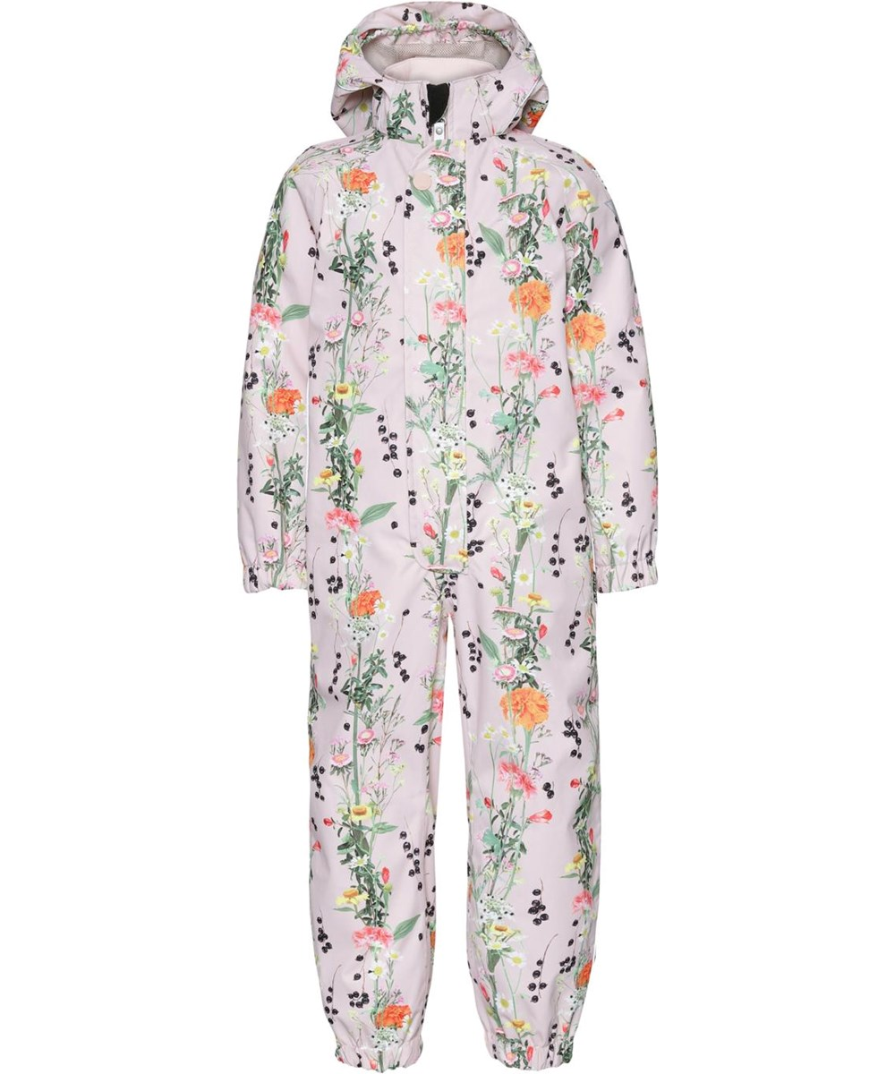 Polly - Vertical Flowers - Waterproof suit with floral print