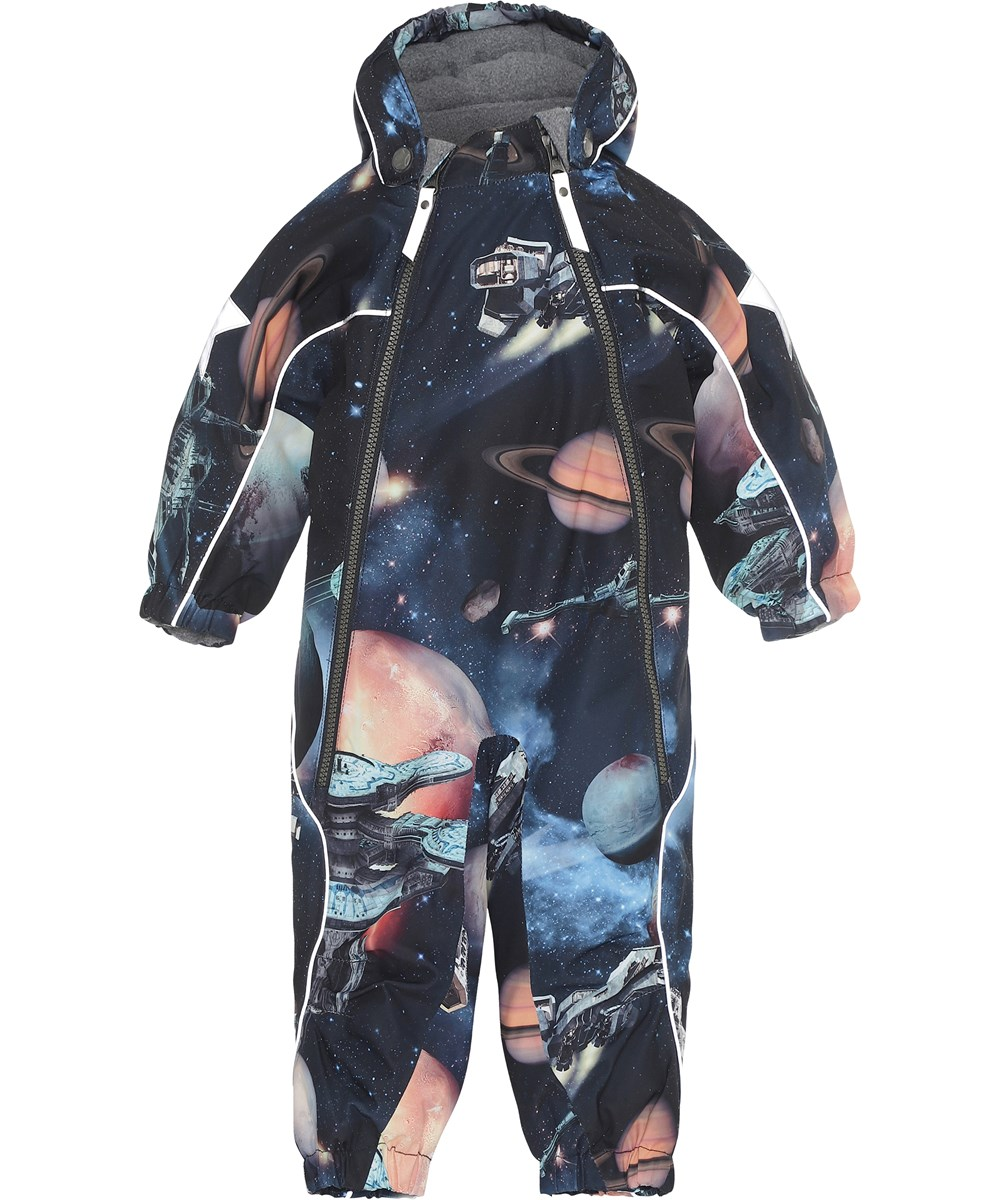 Pyxis - Another Galaxy - Blue snowsuit with spaceships.