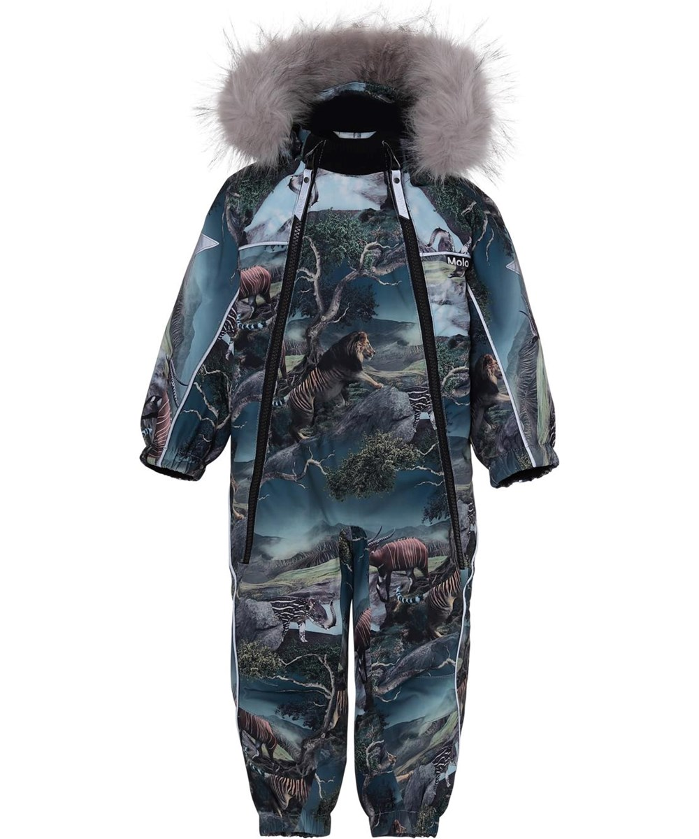 Pyxis Fur - Creation - Baby snowsuit animal print