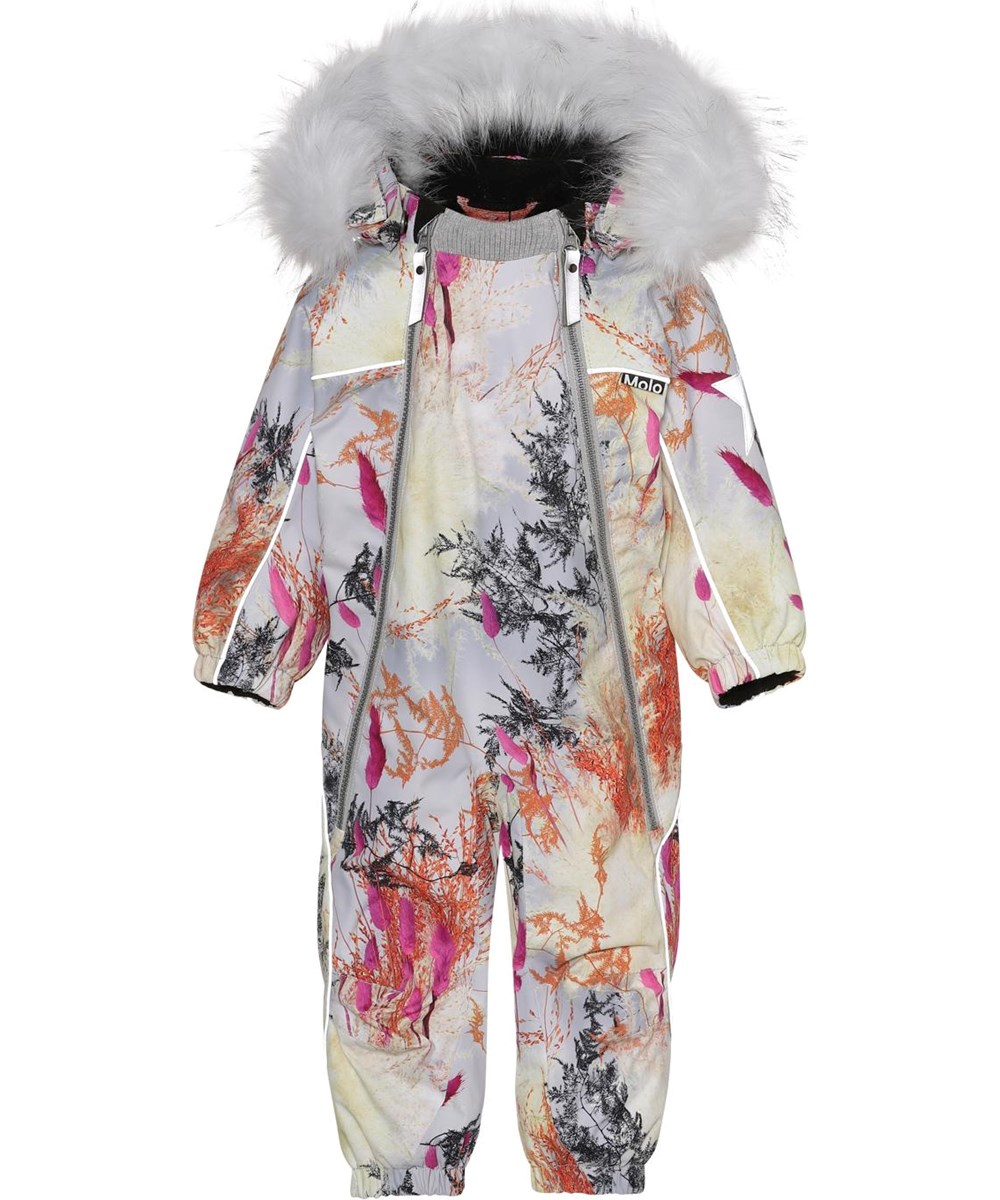 Pyxis Fur - Eternal Flowers - Recycled baby snowsuit in print of branches