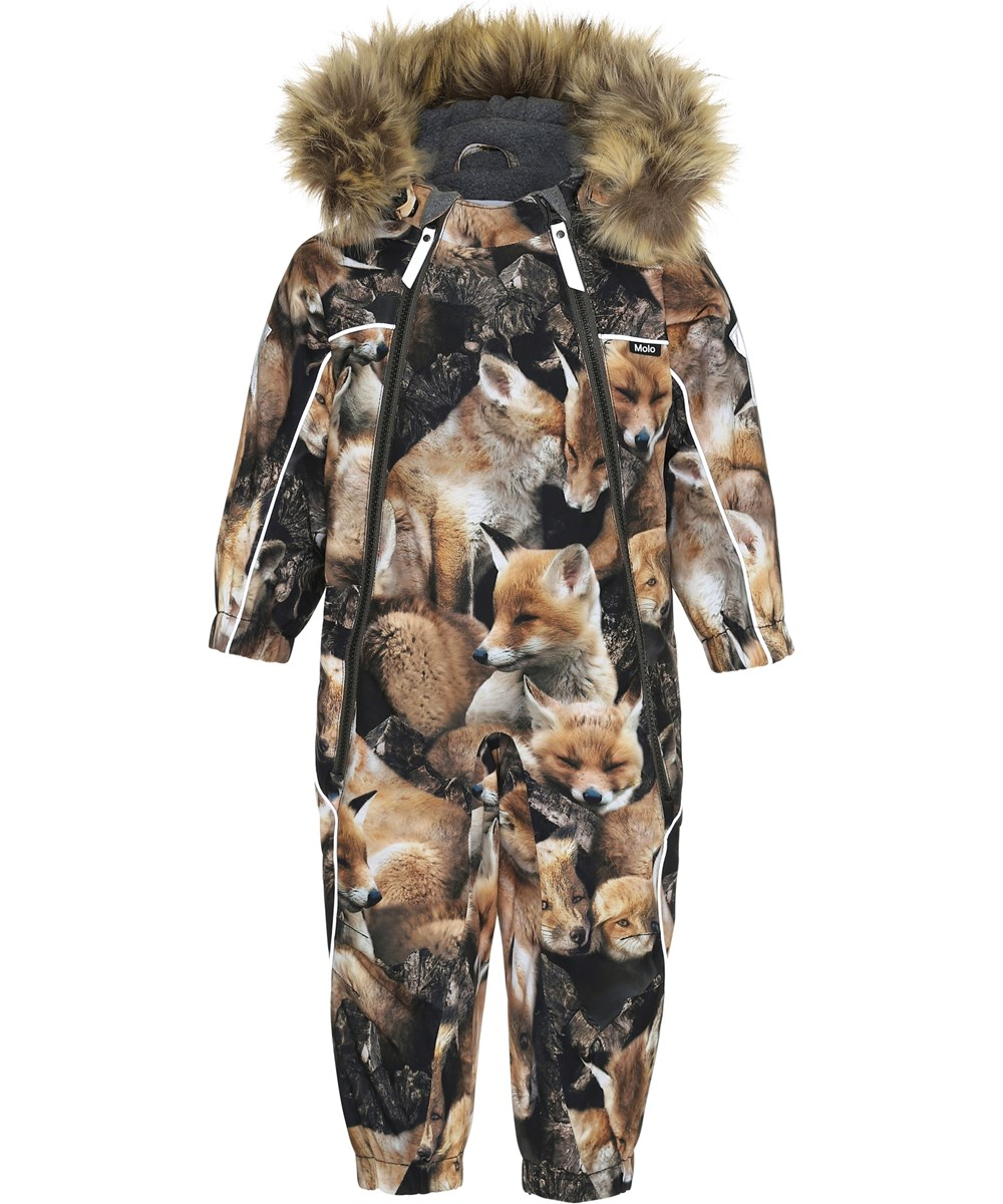 Pyxis Fur - Fox Camo - Snowsuit with foxes and faux fur.