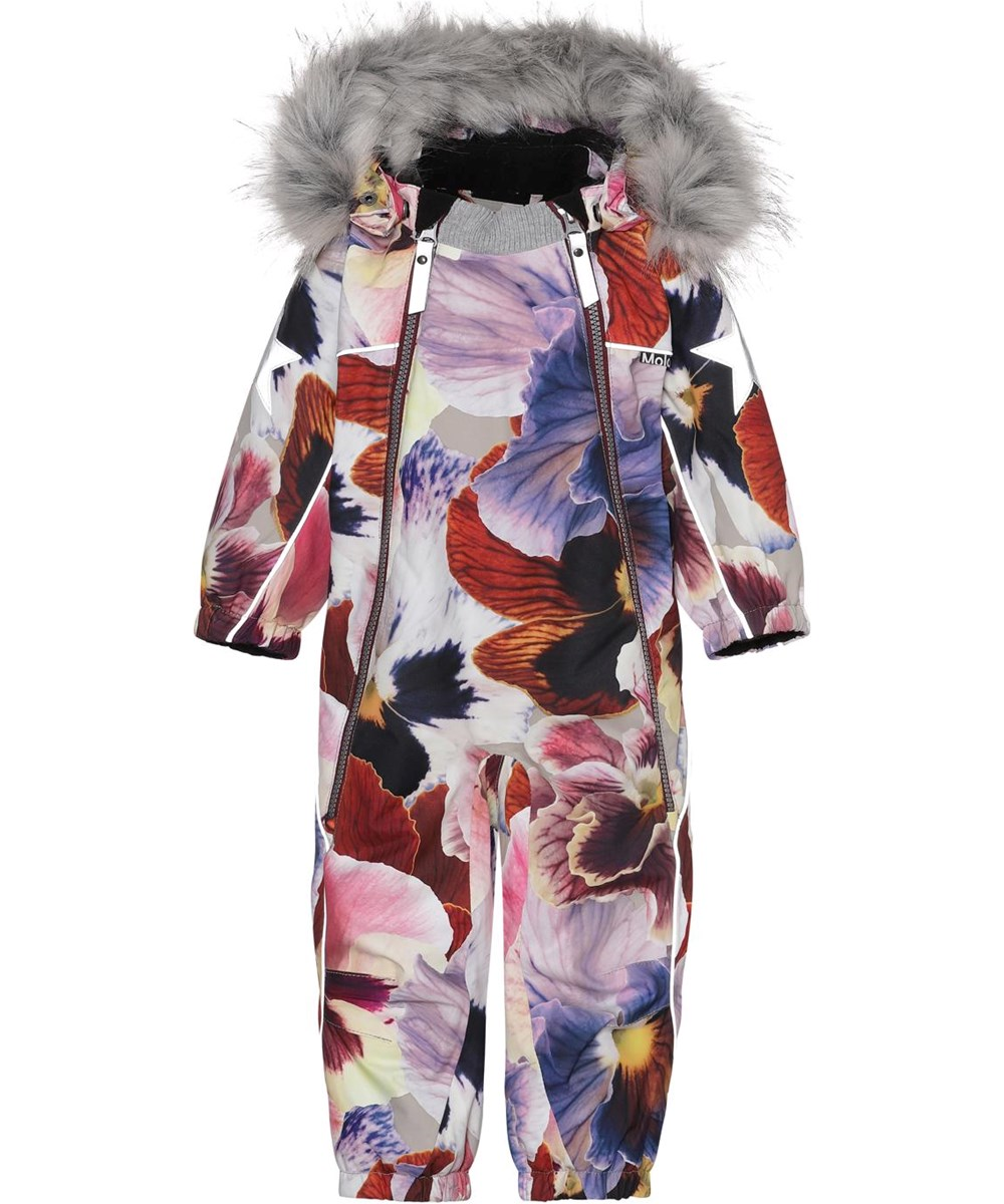 Pyxis Fur - Giant Floral - Recycled baby snowsuit in floral print
